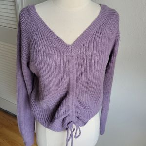 Full Circle Trends Lilac Knit Sweater